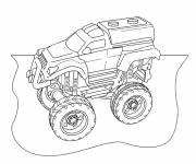 Coloriage et dessins gratuit camion de rallye à imprimer