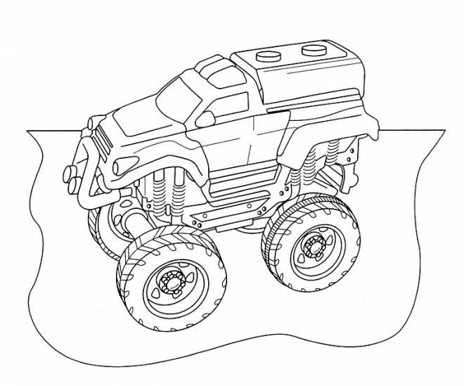 Coloriage et dessins gratuits camion de rallye à imprimer
