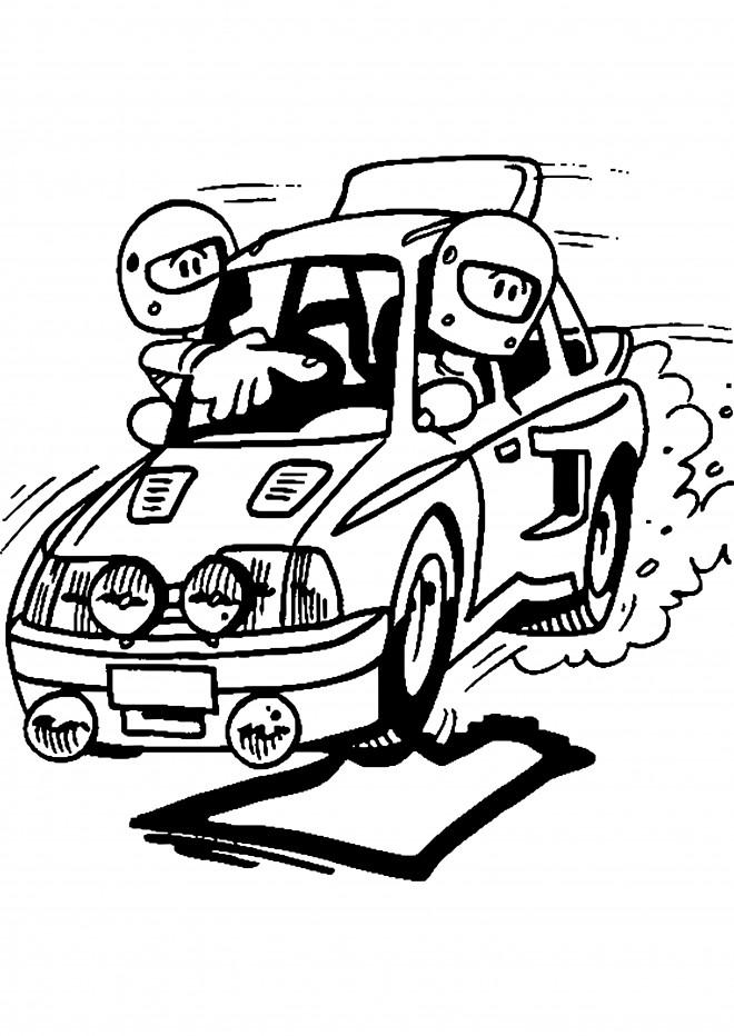 Coloriage et dessins gratuits Chauffeur et Guide Rallye à imprimer