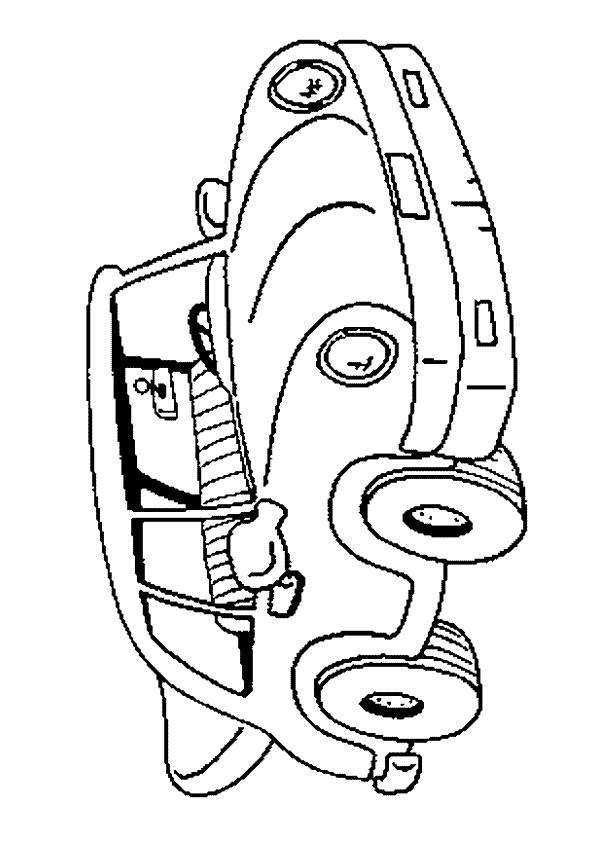 Coloriage et dessins gratuits dessin voiture pour enfant à imprimer