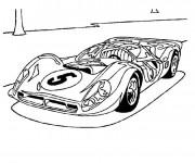 Coloriage et dessins gratuit Ferrari de course F1 à imprimer