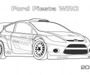 Coloriage Ford Fiesta de Rallye