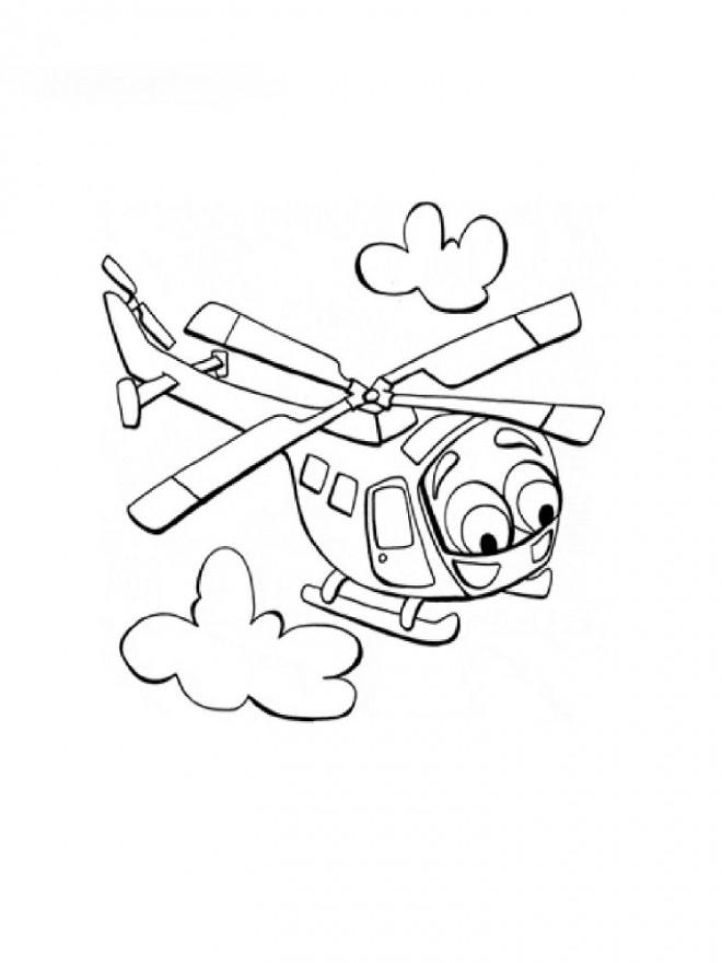 Coloriage et dessins gratuits Hélicoptère magique à imprimer