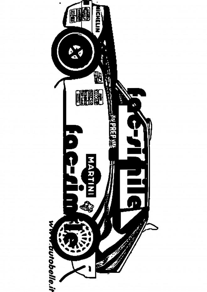 Coloriage et dessins gratuits Jeux Rallye à imprimer