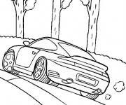 Coloriage Porsche 991 Turbo coupé