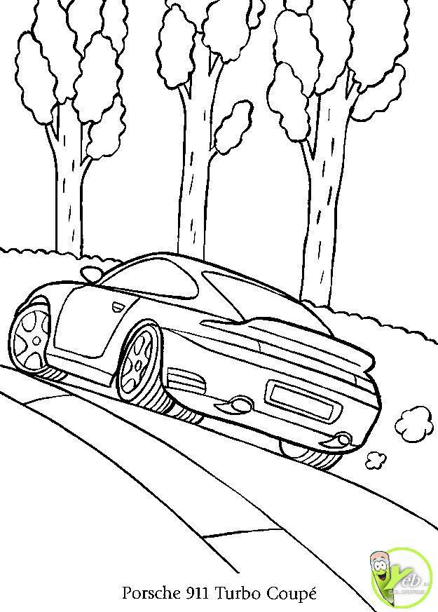 Coloriage et dessins gratuits Porsche 991 Turbo coupé à imprimer
