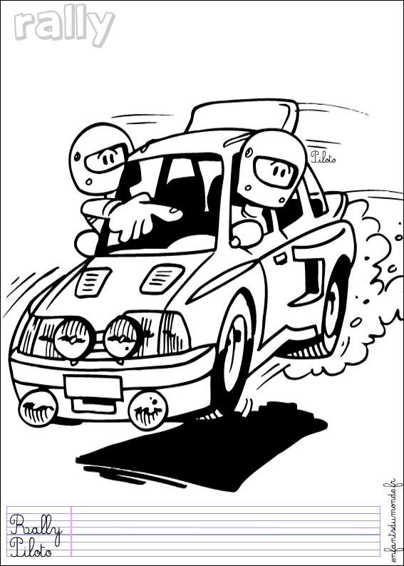 Coloriage et dessins gratuits Rallye humoristique à imprimer