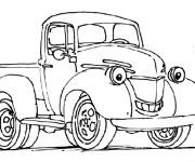 Coloriage et dessins gratuit Une Camionnette qui sourit à imprimer