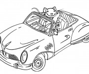 Coloriage et dessins gratuit Voiture de La Souris à imprimer