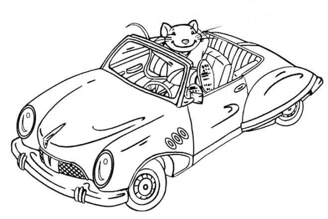 Coloriage et dessins gratuits Voiture de La Souris à imprimer