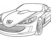 Coloriage et dessins gratuit Voiture de Luxe Peugeot à imprimer