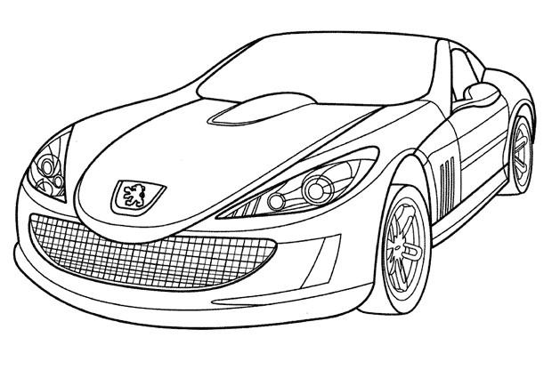 Coloriage voiture de luxe peugeot dessin gratuit imprimer - Coloriage voiture de rallye ...