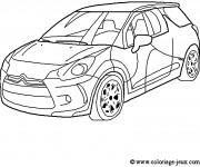 Coloriage et dessins gratuit Voiture de Rallye Citroën à imprimer