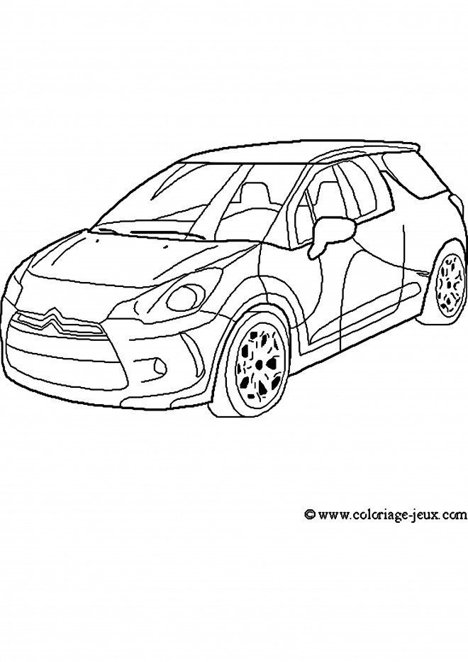 Coloriage et dessins gratuits Voiture de Rallye Citroën à imprimer