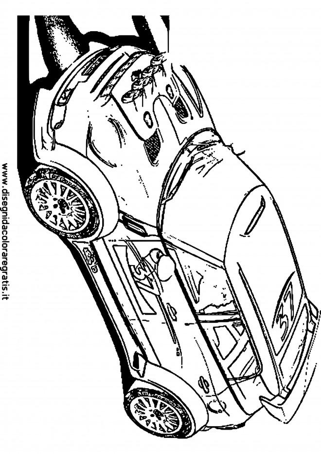 Coloriage et dessins gratuits Voiture de Rallye en couleur à imprimer