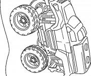 Coloriage et dessins gratuit Voiture de Rallye Jouet à imprimer