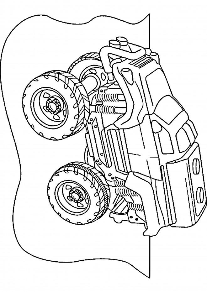Coloriage et dessins gratuits Voiture de Rallye Jouet à imprimer