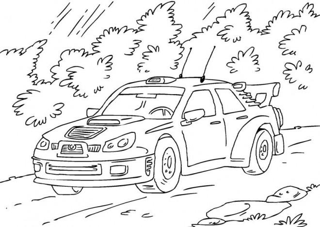 Coloriage et dessins gratuits Voiture de Rallye Subaru à imprimer