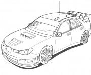 Coloriage Voiture de Rallye WRC