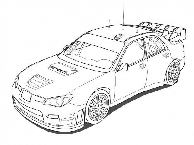 Coloriage et dessins gratuits Voiture de Rallye WRC à imprimer