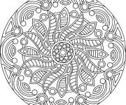 Coloriage et dessins gratuit Adulte Mandala magique à imprimer