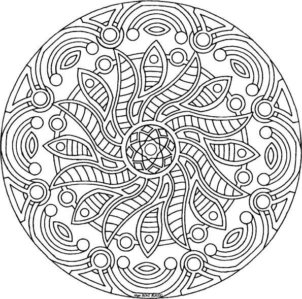 Coloriage et dessins gratuits Adulte Mandala magique à imprimer
