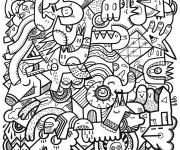 Coloriage et dessins gratuit Adulte pour relaxer à imprimer