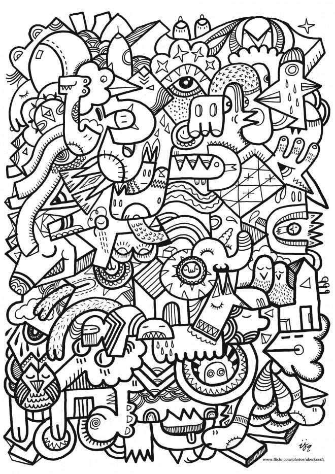 Coloriage et dessins gratuits Adulte pour relaxer à imprimer