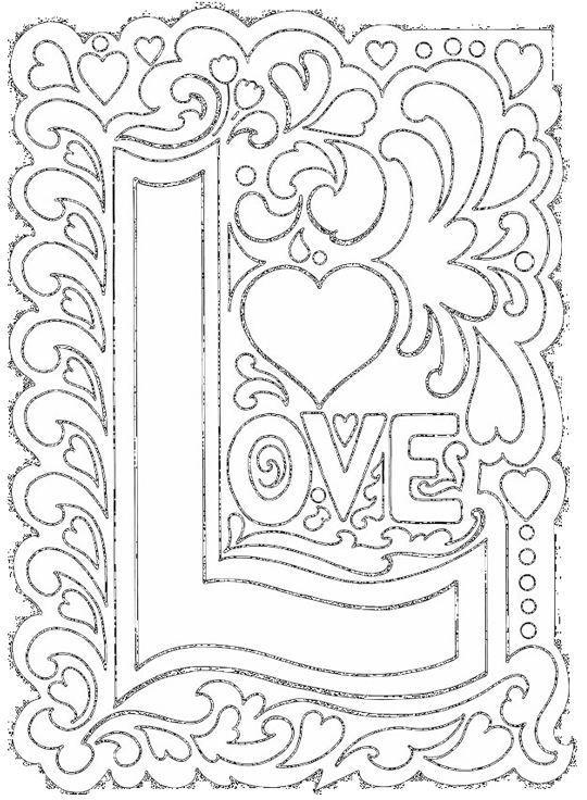 Coloriage Amour Art Pour Se Détendre Dessin Gratuit à Imprimer