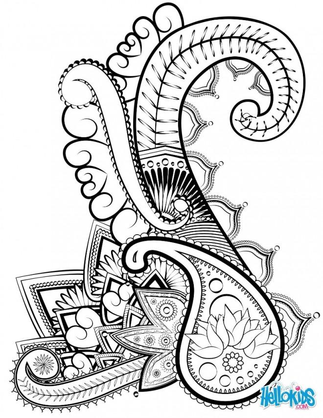 Coloriage et dessins gratuits Art Abstrait à découper à imprimer