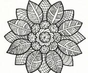 Coloriage et dessins gratuit Art Fleur Relaxant à imprimer