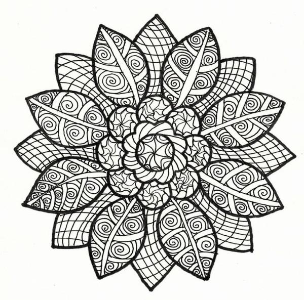 Coloriage et dessins gratuits Art Fleur Relaxant à imprimer