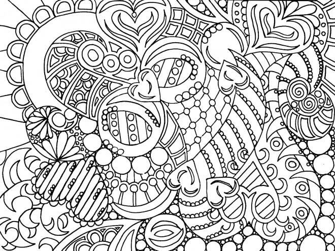 Coloriage et dessins gratuits Des Coeurs Pour Adultes à imprimer