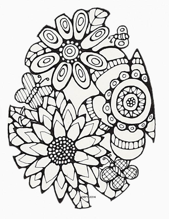 Coloriage et dessins gratuits Fleurs Difficile à imprimer