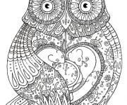 Coloriage et dessins gratuit Hibou mandala à imprimer