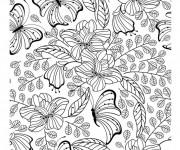 Coloriage et dessins gratuit Inspiration Zen adulte à imprimer
