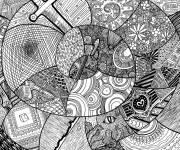 Coloriage et dessins gratuit Inspiration Zen relaxant et complexe à imprimer