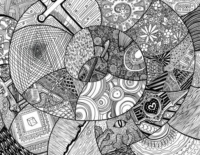 Coloriage et dessins gratuits Inspiration Zen relaxant et complexe à imprimer