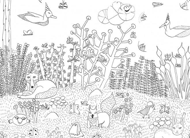 Coloriage et dessins gratuits La vie dans la Forêt à imprimer