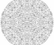 Coloriage et dessins gratuit Mandala Anti-Stress complexe à imprimer