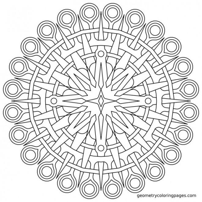 Coloriage et dessins gratuits Mandala en ligne à imprimer