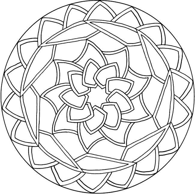 Coloriage et dessins gratuits Mandala Géométrique à imprimer