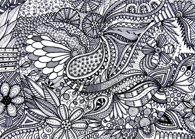 Coloriage et dessins gratuits Paysage Relaxant pour Les Grands à imprimer
