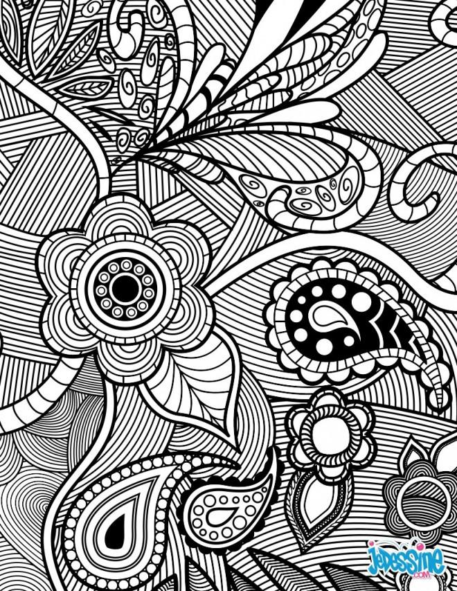 Coloriage et dessins gratuits Paysage stylisé en noir et blanc à imprimer