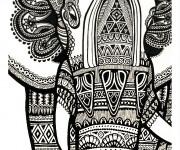 Coloriage et dessins gratuit Psychédélique éléphant à imprimer