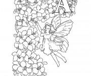 Coloriage et dessins gratuit Relaxant Ange à imprimer