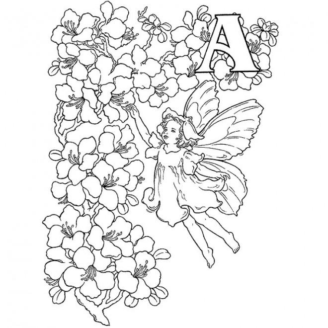 Coloriage et dessins gratuits Relaxant Ange à imprimer