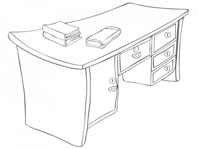 Coloriage et dessins gratuits Relaxant Bureau à imprimer