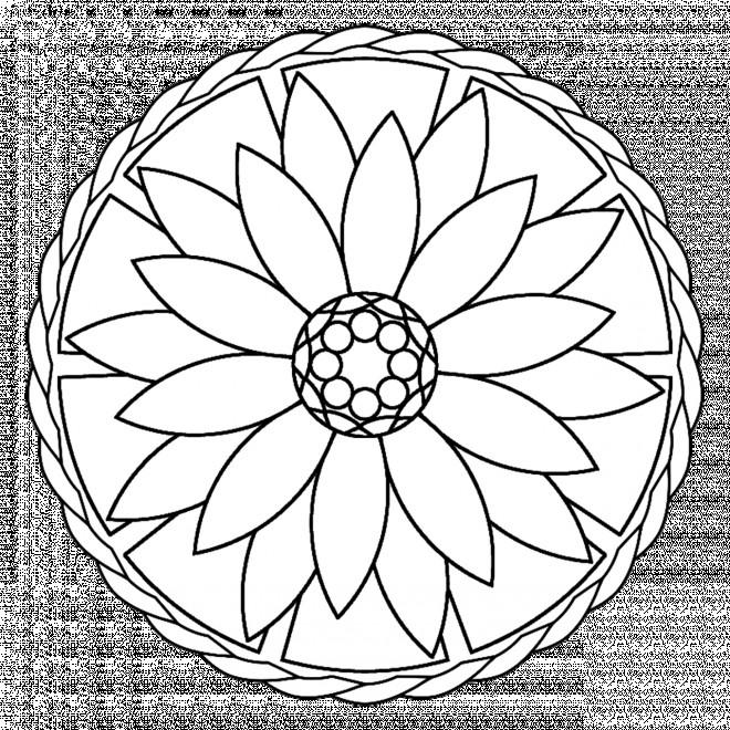 Coloriage et dessins gratuits Relaxant Mandala Fleur à imprimer