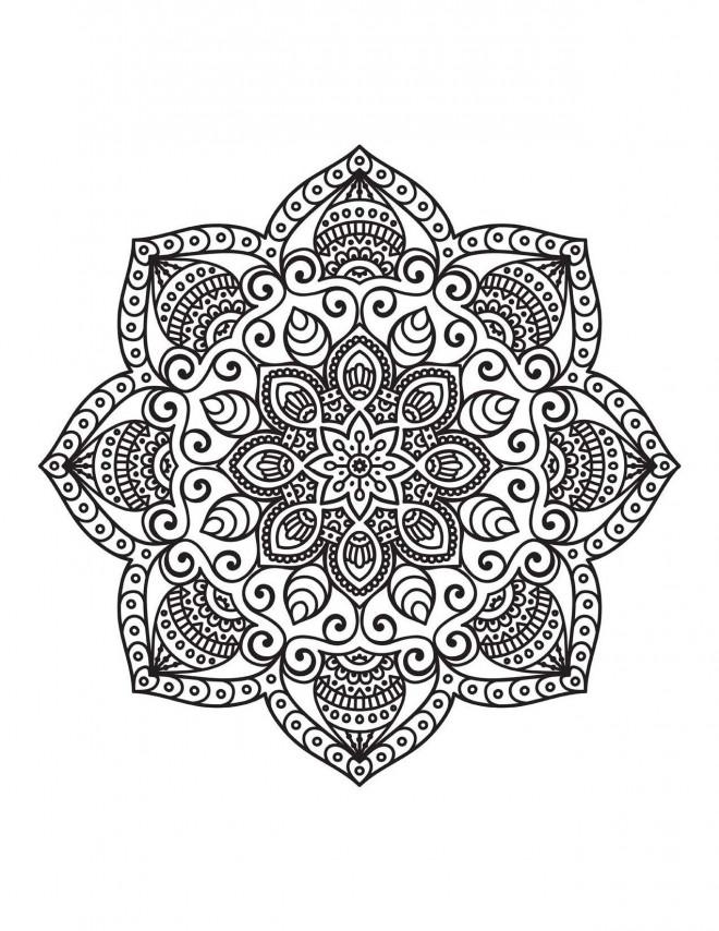 Coloriage et dessins gratuits Relaxant Mandala pour décoration à imprimer